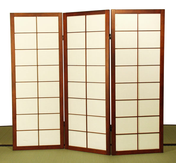 Futon design paravents paravents paravent shoji 3 portes bas - Paravent japonais coulissant ...