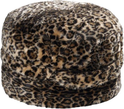 Futon Design Fausses Fourrures Coussins Leopard Pouf