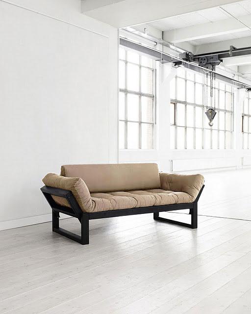 futon design canap s lits facile edge noir ensemble dossier microfibres gris. Black Bedroom Furniture Sets. Home Design Ideas