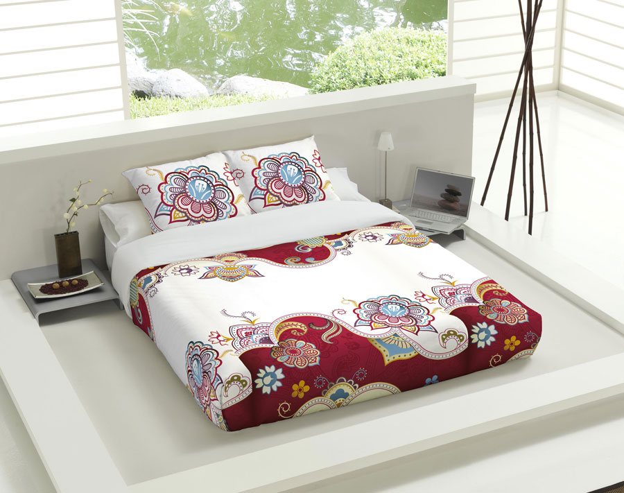 Futon design bed covers duvet cover printed funku tsuki for Futon geneve