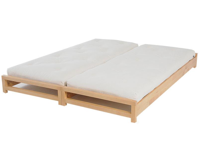 Futon design canap s lits facile lit superposable bouleau - Lit superposable separable ...