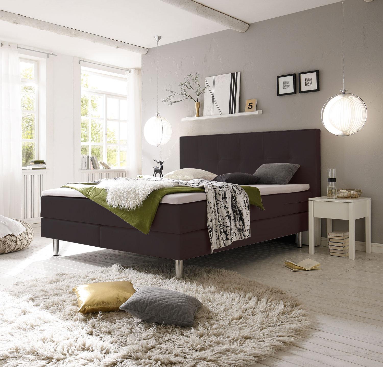 futon design lits sommiers lits bois boxspring fleur 160x200 cm. Black Bedroom Furniture Sets. Home Design Ideas