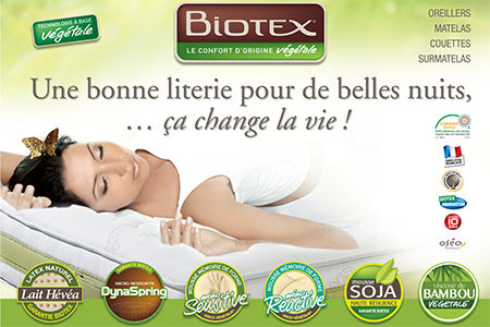 Biotex and their natural based foam fillings
